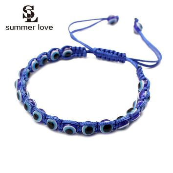 5 Colors Turkish Handmade Red String Evil Blue Eyes Rope Bracelets Good Lucky Friendship Bracelet for Women Men Fashion Jewelry