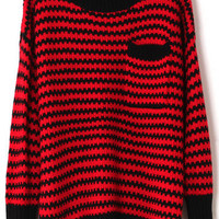 @Free Shipping@ Women Blends Red Sweater One Size omss011r from Voguegirlgo