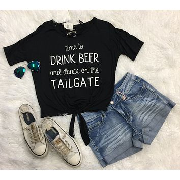 Time to Drink & Dance on the Tailgate: Black