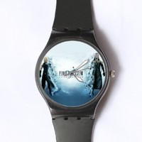 Custom TFinal Fantasy Watches Classic Black Plastic Watch WT-0835