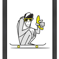 Americanflat Banana by Ale Giorgini (Framed)