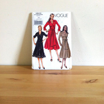 Vogue 8315 Misses' Plus Size Wrap Dress {2006} Sewing Pattern