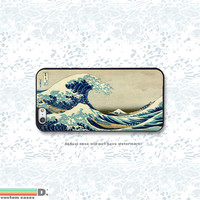 The Great Wave, Vintage Japanese Art Print, Custom Phone Case for iPhone 4/4s, 5/5s, 6/6s, 6/6s+, iPod Touch 5