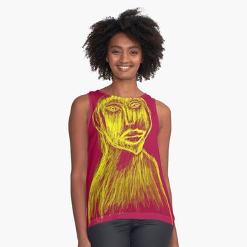 "'""etching 46"" Apple Pencil drawing' Contrast Tank by BillOwenArt"