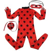 Cool Ladybug Cosplay Costumes Girls Jumpsuits Halloween Christmas Fancy Party Dress Costume Kids Disfraz Lady Bug Cosplay MarinetteAT_93_12