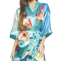 Little Mermaid Satin Robe | Wet Seal