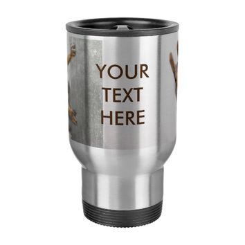 Curious squirrel travel mug