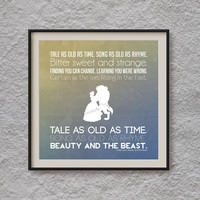 Beauty and the Beast Print