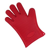Evelots Silicone BBQ Glove Heat Resistance Grilling Silicone Oven Gloves