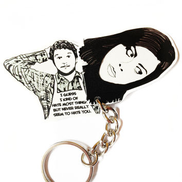 April and Andy keychain