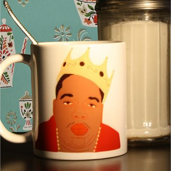 The Notorious B.I.G. Biggie Smalls Mug - Illustrated in the USA