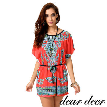 [DEAL OF THE DAY] Dear Deer Bohemian Trendy Women's Tunic Top