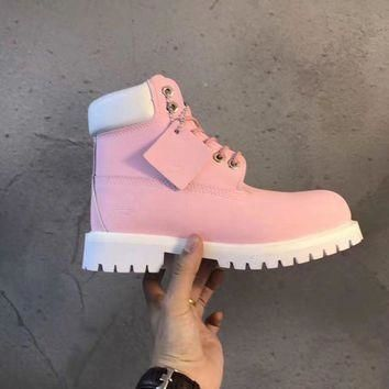 Men's Timberland Icon 6-inch Premium Classic Pink Smooth Waterproof Boots