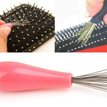 Comb Hair Brush Cleaner Cleaning Remover Embedded Beauty Tools Plastic Handle Free Shipping