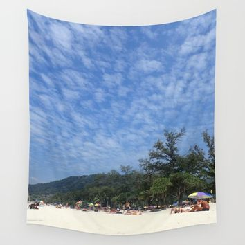 Patong Beach Wall Tapestry by Lindsey Jennings Photography