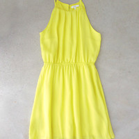 Sweet Spring Dress in Neon [6832] - $34.00 : Feminine, Bohemian, & Vintage Inspired Clothing at Affordable Prices, deloom