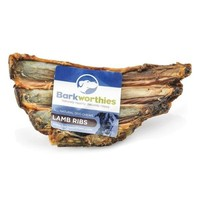 Barkworthies Lamb Ribs Dog Treat 6-7""