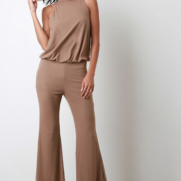 Turtleneck Bell Bottom Jumpsuit