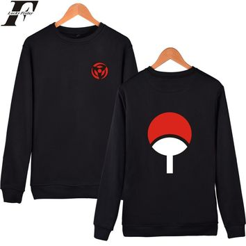 LUCKYDAYF Naruto Classic Anime Capless Hoodies And Sweatshirts For Couples Hokage Ninjia Hoodies Men Uchiha Syaringan Clothes
