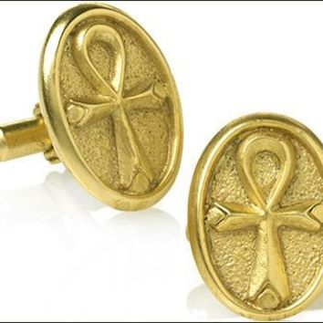 Egyptian Ankh Symbol of Life Cufflinks - 7252