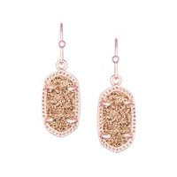 Lee Earrings in Rose Gold Drusy - Kendra Scott Jewelry