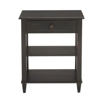 Pre-owned Ethan Allen Colin Night Table in Charcoal
