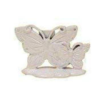 Set of 12 Place Card Holders - White Butterfly