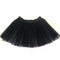 Black tutu skirt fancy costumes cyber rave emo christmas