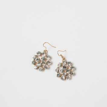Darcy Crystal Round Statement Earrings