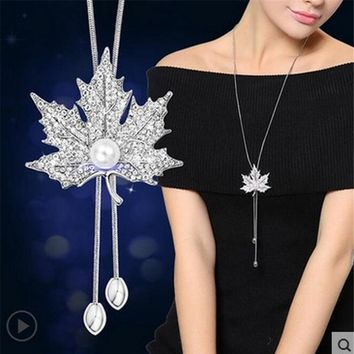 Long Fashion Tassel Statement Collier Jewelry Necklace for Women