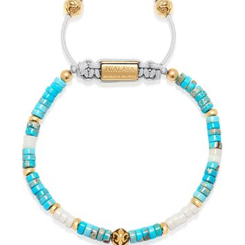 The Heishi Bead Collection - Turquoise, White and Gold