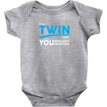 It's A Twin Thing Baby Onesuit