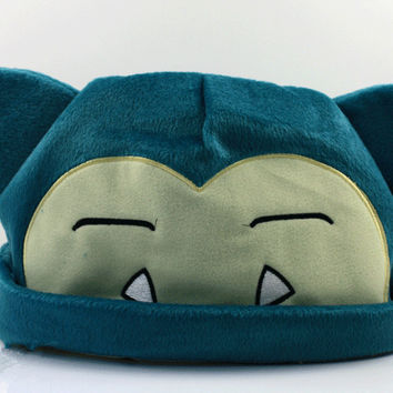 1pcs Pokemon Snorlax Plush Beanies Cosplay Hat 20cm For kids Free Shipping