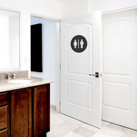 Restroom Circle Wall Decal