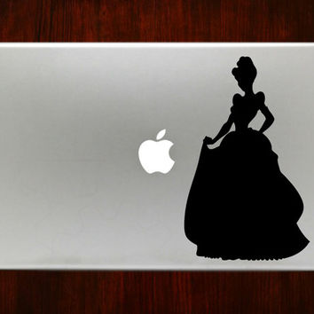 "Cinderella Princess m525 Design Decal Sticker Vinyl For Macbook Pro Air Retina 13"" 15"" 17"" Inch Laptop Cover"