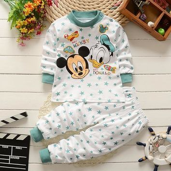 baby clothes set Winter Newborn cotton Baby girls Clothes 2PCS Cartoon baby Boy Clothes Unisex kids Clothing Sets bebes