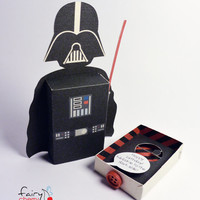Darth Vader star wars emotibox - Customized geek paper box for season greetings, birthday wishes, expressing emotions