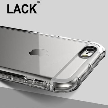 LACK Anti Knock Shockproof Rugged Hybrid Rubber Armor Transparent Soft TPU Case For iPhone 6 6S/ 6S Plus Cover Phone Cases