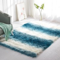 Mainstays Ombre Faux Fur Shag Rug, Multiple Colors and Sizes - Walmart.com