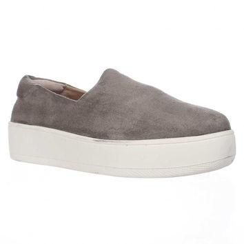 STEVEN by Steve Madden Hilda Slip On Fashion Sneakers, Grey, 9.5 US
