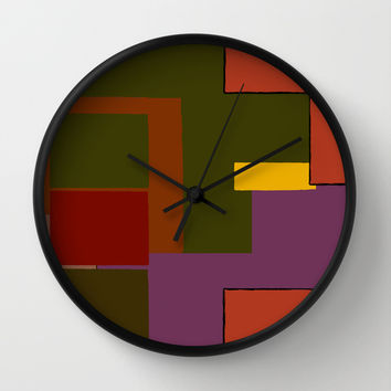 Stacked Wall Clock by Texnotropio