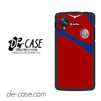Costa Rica Soccer Jersey For Google Nexus 5 Case Phone Case Gift Present YO