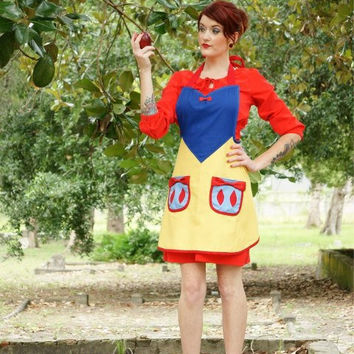 Snow white inspired  cosplay costume apron
