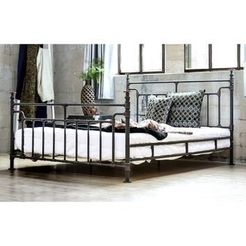 Furniture of America Revo Industrial Antique Black Metal Bed | Overstock.com Shopping - The Best Deals on Beds