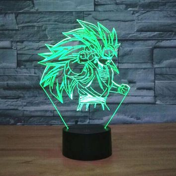 3D LED Dragon Character Lamp With 7 Changable Colors