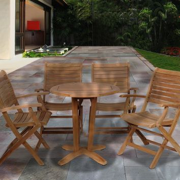 Amazonia Teak Aruba 5 pc Teak Dining Set