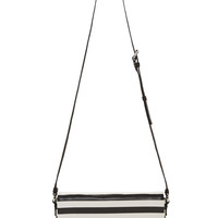 Marc By Marc Jacobs Black And White Striped Leather Too Hot To Handle Bag