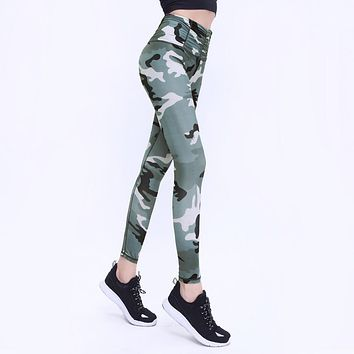 Camo Printed Sporting Women Leggings