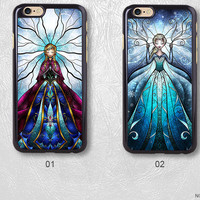 Frozen Elsa and Anna Sister Protective Phone Case For iPhone case & Samsung case, H34