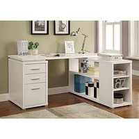 Exquisite Wooden Office Desk, White
